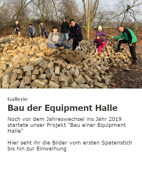 Bau der Equipment Halle